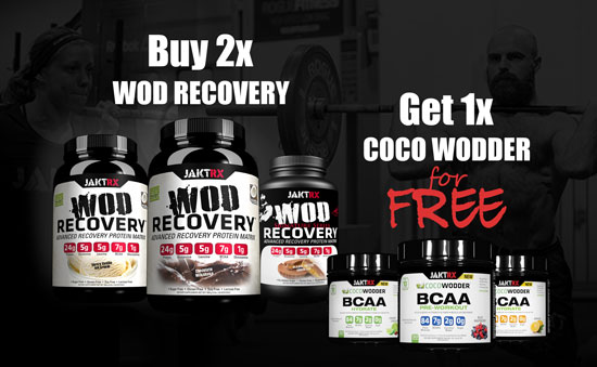 Combo Deal: buy two WODrecovery and get one COCOwodder BCAA for free