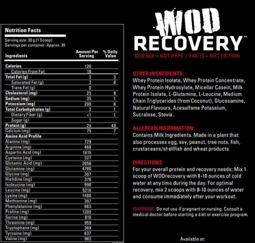 Label for WOD Recovery - Vern's Ice Cream